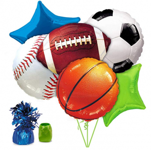 Sports Themed Birthday Party Balloons